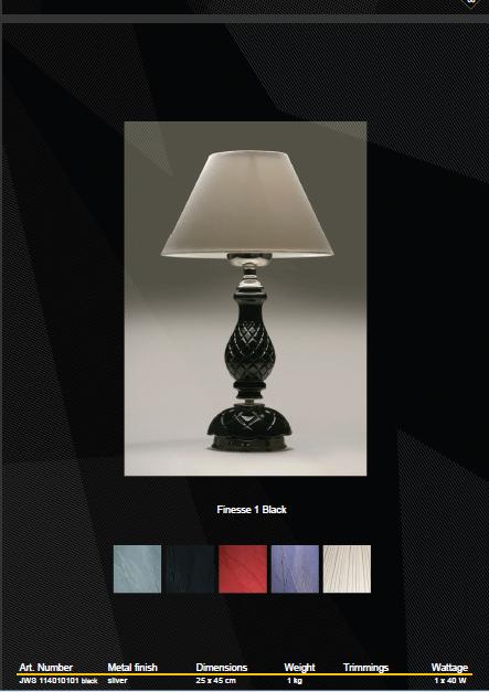 Настольная лампа Wranovsky Finesse JWS 114010101 black